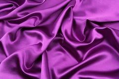 Purple silk fabric Stock Photos