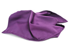 Purple silk scarf Stock Image