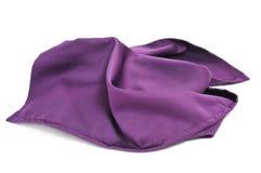 Purple silk scarf. A purple silk scarf on a white background Stock Image