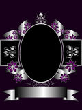 Purple and Silver Floral Background vector illustration