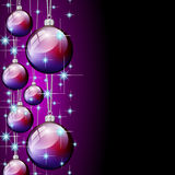 Purple silver merry christmas ball Royalty Free Stock Images
