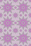 Purple and silver stars Royalty Free Stock Image