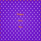 Purple Simple Seamless Pattern with Christmas Tree Silhouette Stock Image