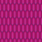 Purple Sixties Patter. Seamless arches - feathers - scales pattern Royalty Free Stock Photos