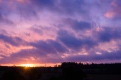 Purple sky Stock Photos