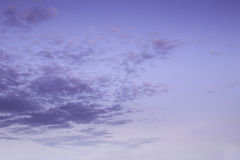 Purple sky. Beautiful purple sky with clouds Royalty Free Stock Photos