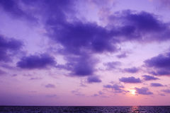 Purple sky and cloud sunrise Royalty Free Stock Images