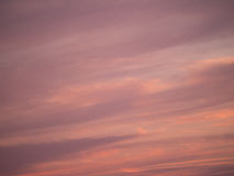 Purple sky with clouds at sundown. In springtime Stock Image