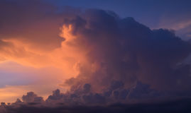 Purple sky Stock Photography