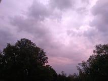Purple sky. Just cloud in sky Royalty Free Stock Photos