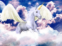 Purple sky pegasus Stock Photos