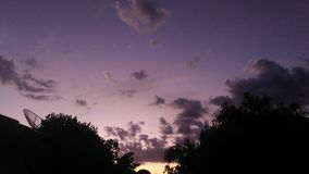 Purple sky Stock Photography