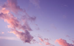 Purple sky at sunset Royalty Free Stock Photography