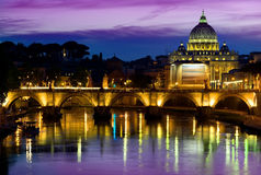 Purple sky and Vatican Royalty Free Stock Image
