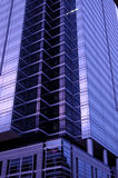 Purple Skyscraper. Naturally created by a blue sunset Royalty Free Stock Photos