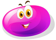 Purple slime with smiling face Royalty Free Stock Image