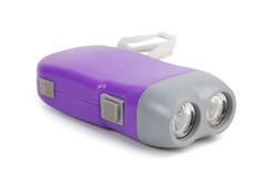 Purple small flashlight Stock Image