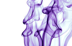 Purple smoke. Colorful shot of smoke against white background Royalty Free Stock Images