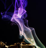 Purple Smoke abstract background Stock Image