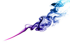 Purple smoke. Stock Photos