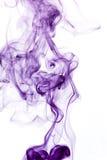 Purple smoke detail Stock Images