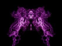 Purple smoke pattern Royalty Free Stock Photography