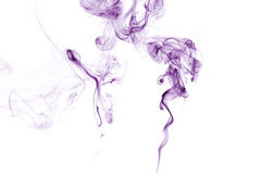 Purple Smoke on white. Royalty Free Stock Image