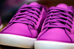 Purple sneaker shoe Stock Image