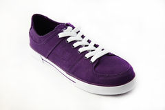 Purple sneakers. Purple shoes on a white background Royalty Free Stock Photos