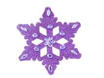 Purple snowflake Royalty Free Stock Photos