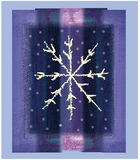 Purple snowflake. Christmas snowflake on purple background Stock Images