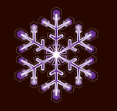 Purple snowflake. On a black background Stock Photo