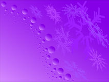 Purple snowflakes Stock Photo