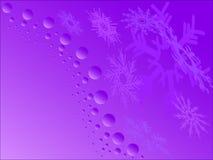Purple snowflakes Stock Photo