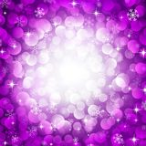 Purple snowflakes. Vector purple background with snowflakes Stock Image