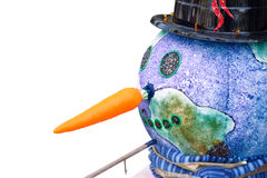 Purple Snowman's Head, isolated Royalty Free Stock Image