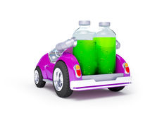 Purple soda car back Royalty Free Stock Images