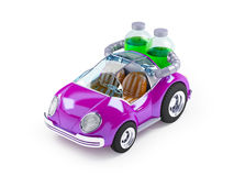 Purple soda car Stock Image