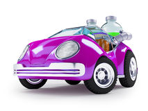 Purple soda car Royalty Free Stock Photography
