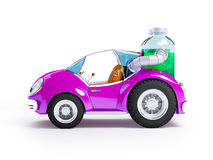 Purple soda car Royalty Free Stock Photos