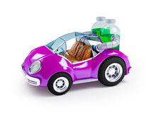 Purple soda car Royalty Free Stock Image