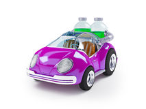 Purple soda car Stock Photos