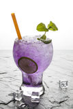 Purple soda lime drink with lime Royalty Free Stock Images