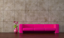 Purple sofa Royalty Free Stock Images