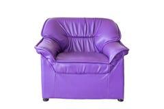 Purple sofa furniture Stock Image