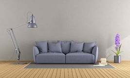 Purple sofa in a modern living room Royalty Free Stock Photos