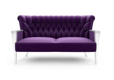 Purple sofa over white Stock Photos
