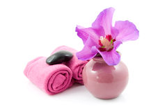 Purple spa accessory Stock Photos