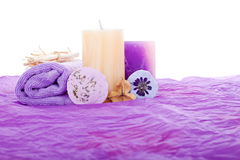 Purple Spa background Royalty Free Stock Image