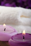Purple spa concept (1) Royalty Free Stock Image